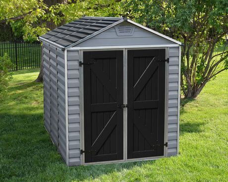 Palram 6 Ft. X 8 Ft. Skylight Storage Shed - Grey - image 2 of 9