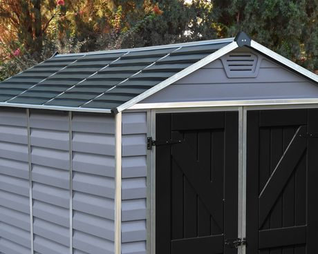 Palram 6 Ft. X 8 Ft. Skylight Storage Shed - Grey - image 3 of 9