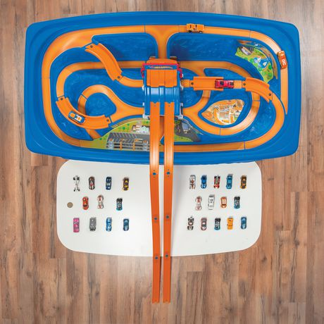 step2 hot wheels car and track play table playset
