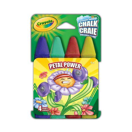 Crayola Washable Sidewalk Chalk 4 Ct, Petal Power - image 1 of 1