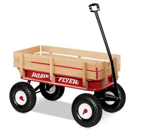 Radio Flyer All-Terrain Steel & Wood Wagon 32Z