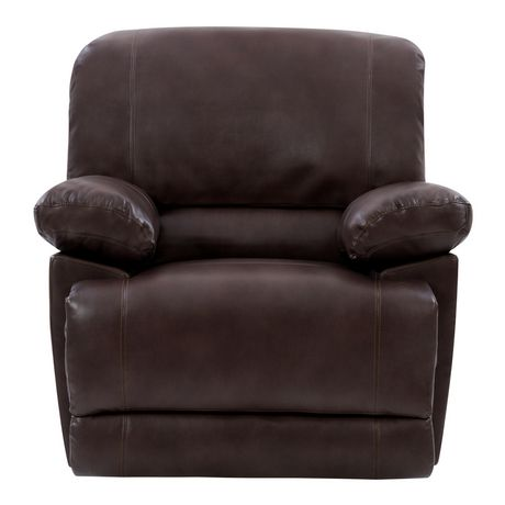 Wondrous Corliving Lea Chocolate Brown Bonded Leather Reclining Chair Ibusinesslaw Wood Chair Design Ideas Ibusinesslaworg