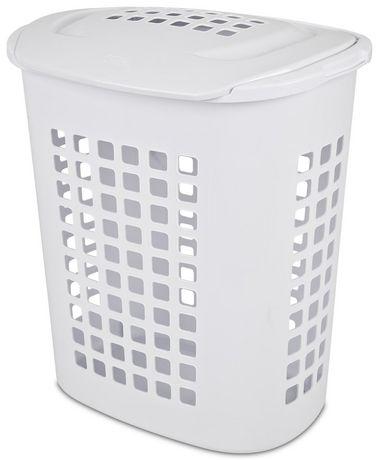 Sterilite 81 Liter Lift Top White Laundry Hamper Walmart