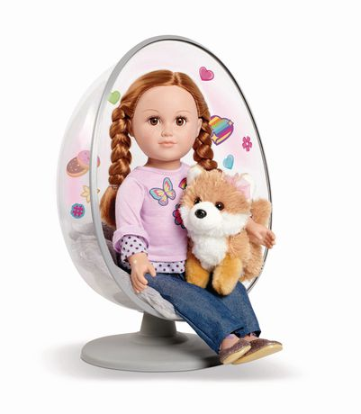 """NEW My Life As Egg Chair For 18/"""" Doll 2 Pieces 5"""