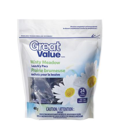 Great Value Misty Meadow Laundry Detergent Pacs Walmart Ca