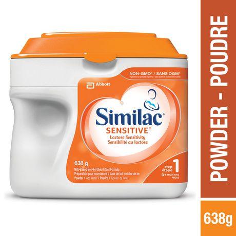 Similac Sensitive Lactose Sensitivity Non-GMO Baby Formula Powder, 638 g - image 1 of 9