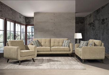 Topline Home Furnishings 3 pc Beige Living Room Set - image 1 of 4
