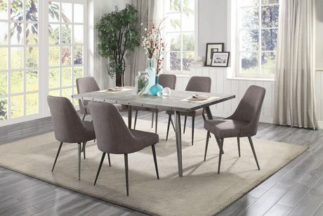 Topline Home Furnishings 5pc Grey Dining Set - image 1 of 1
