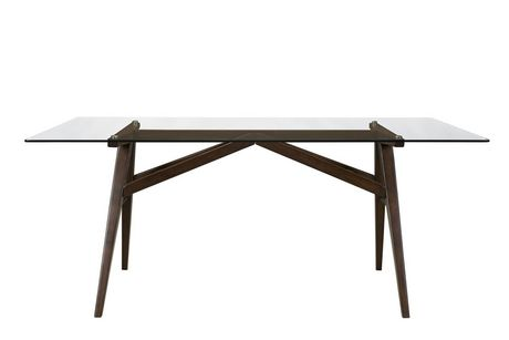 Topline Home Furnishings Glass Top Dining Table - image 1 of 2