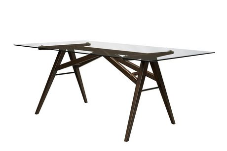 Topline Home Furnishings Glass Top Dining Table - image 2 of 2