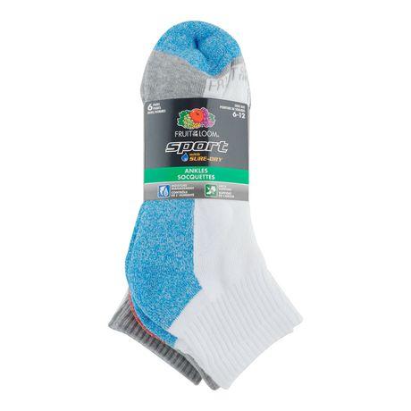 Fruit of the Loom Men's 6 Pair Sport Ankle Socks - image 2 of 2