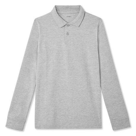 George Boys' Long Sleeve Uniform Polo - image 1 of 2