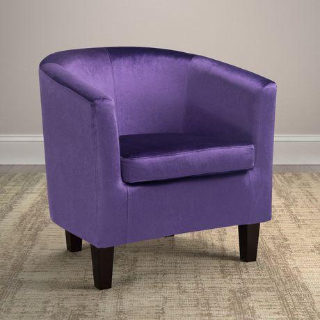 Corliving Antonio Purple Velvet Tub Chair Walmart Canada