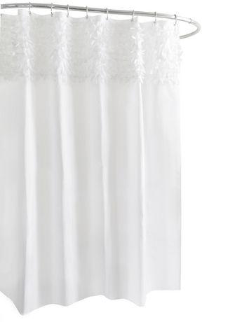 Mainstays Kids White Bling Shower Curtain