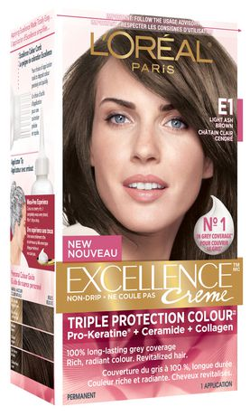 loral excellence prokeratin e1 chtain clair cendr - Coloration Chatain Cendr