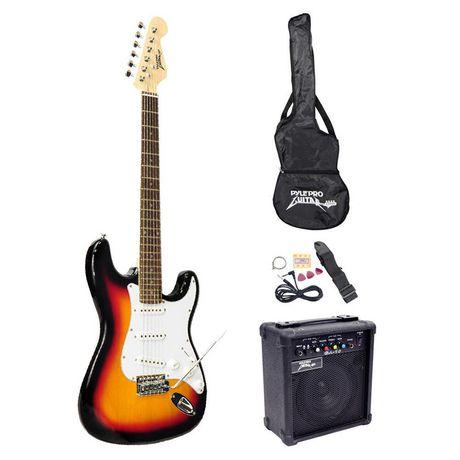 Pyle Beginner Electric Guitar Package – Sunburst   Walmart