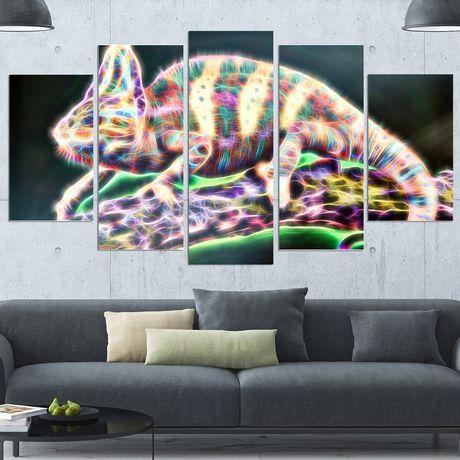 Décoration murale sur toile Design Art Vie d'Iguane - image 2 de 3