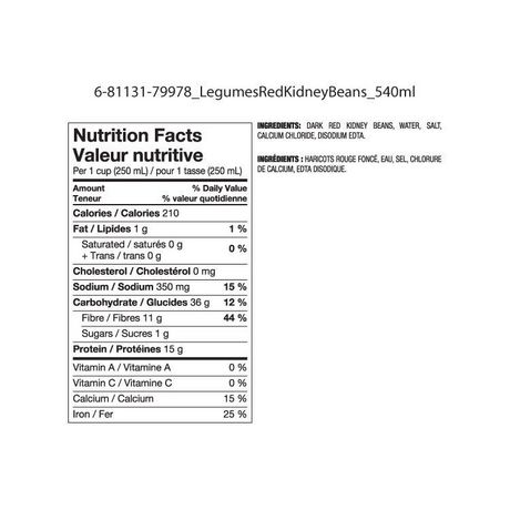Great Value Dark Red Kidney Beans - image 2 of 2