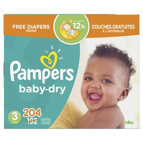 Pampers Baby Dry Diapers - Econo Plus BONUS Pack - image 1 of 7