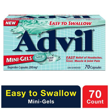 Advil Mini-Gels (70 Count), 200 mg ibuprofen, Temporary Pain Reliever / Fever Reducer - image 1 of 4