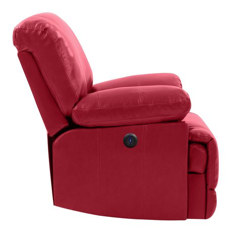 CorLiving Lea Bonded Leather Power Recliner With USB Port - image 4 of 6