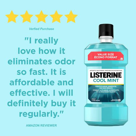 Listerine® Cool Mint™ Antiseptic Mouthwash - image 3 of 7