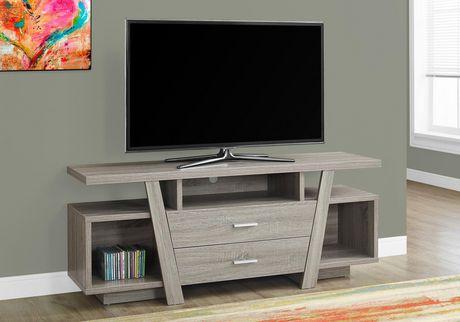 Meuble télé Monarch Specialties en taupe foncé - image 1 de 3