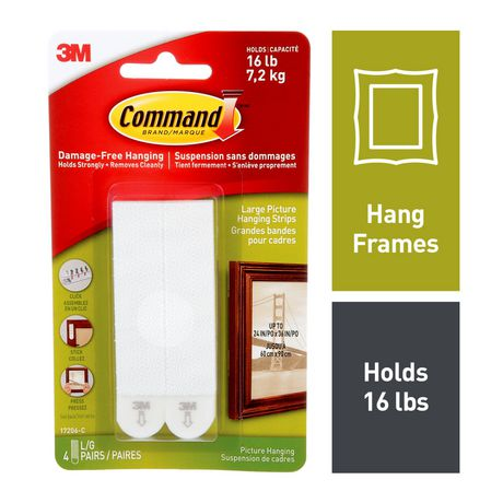 Command™ Large Picture Hanging Strips, 17206-C, Black - image 1 of 3