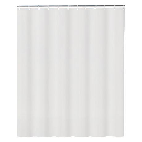 Mainstays Heavyduty 12 Gauge Anti Mildew Shower Liner
