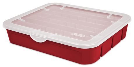 Sterilite Adjustable Red Ornament Case - image 1 of 3