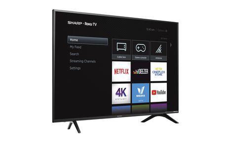 "Sharp 60"" Class 4K Ultra HD HDR LED Roku Smart TV (R6003) - image 2 of 3"