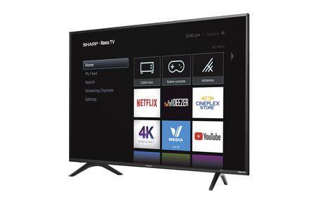 "Sharp 60"" Class 4K Ultra HD HDR LED Roku Smart TV (R6003) - image 3 of 3"