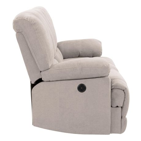 CorLiving Plush Power Reclining Chenille Fabric Sofa with Fold-Down Console and Cupholders with USB Port - image 4 of 9