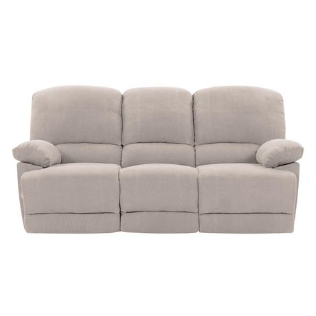 CorLiving Plush Power Reclining Chenille Fabric Sofa with Fold-Down Console and Cupholders with USB Port - image 1 of 9