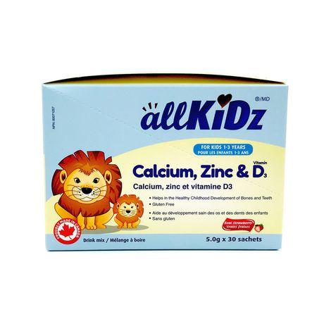 allKiDz Calcium, Zinc & Vitamin D3 - image 1 of 4