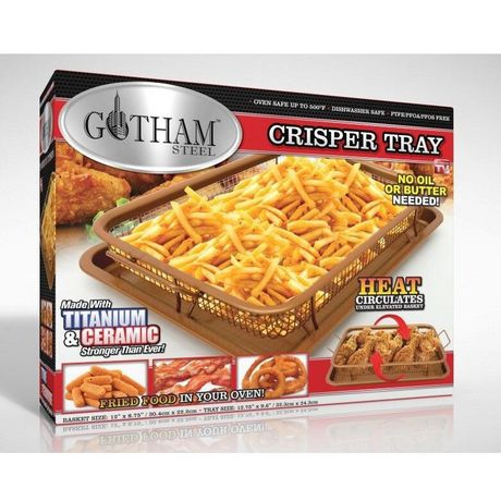 Gotham Steel Copper Crisper Tray - AIR FRY IN YOUR OVEN - As Seen on TV - image 1 of 4