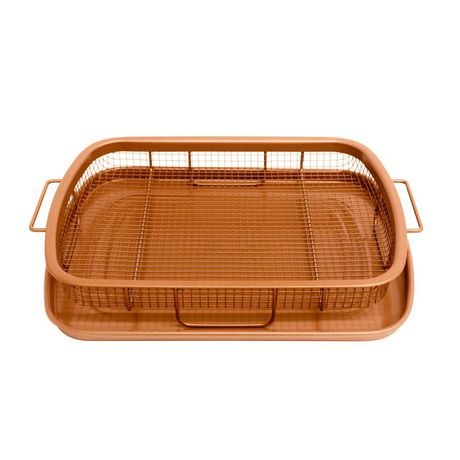 Gotham Steel Copper Crisper Tray - AIR FRY IN YOUR OVEN - As Seen on TV - image 3 of 4