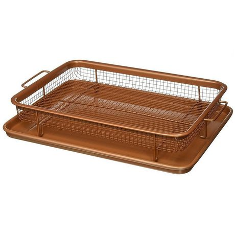 Gotham Steel Copper Crisper Tray - AIR FRY IN YOUR OVEN - As Seen on TV - image 4 of 4