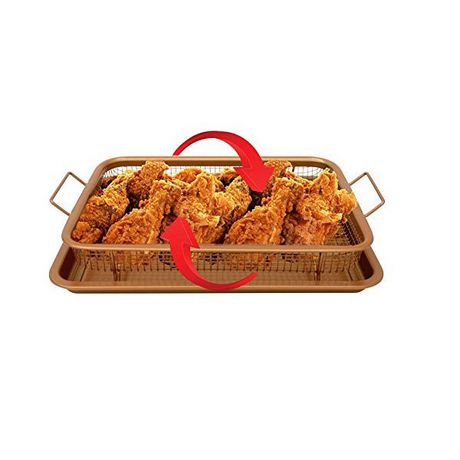 Gotham Steel Copper Crisper Tray - AIR FRY IN YOUR OVEN - As Seen on TV - image 2 of 4