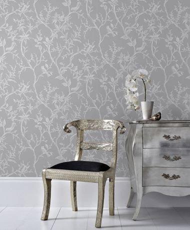 graham brown sentier laos gris blanc papier peint amovible walmart canada. Black Bedroom Furniture Sets. Home Design Ideas