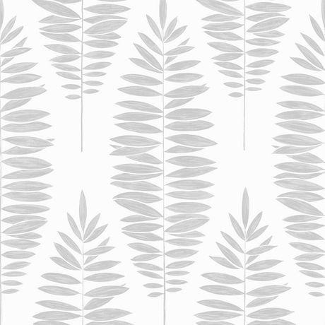 Graham brown lucia blanc argent papier peint amovible for Papier peint blanc argent