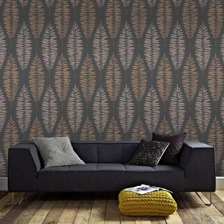 graham brown lucia noir cuivre or rose papier peint amovible walmart canada. Black Bedroom Furniture Sets. Home Design Ideas