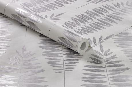 graham brown lucia blanc argent papier peint amovible walmart canada. Black Bedroom Furniture Sets. Home Design Ideas