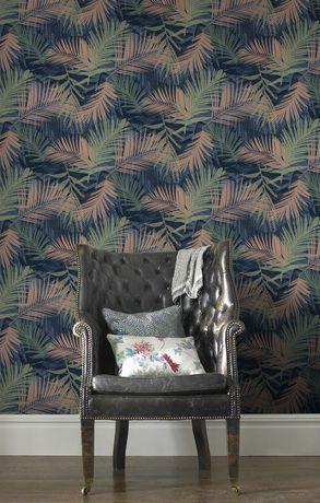 Graham Brown Jungle Glam Bluegreencopper Removable Wallpaper