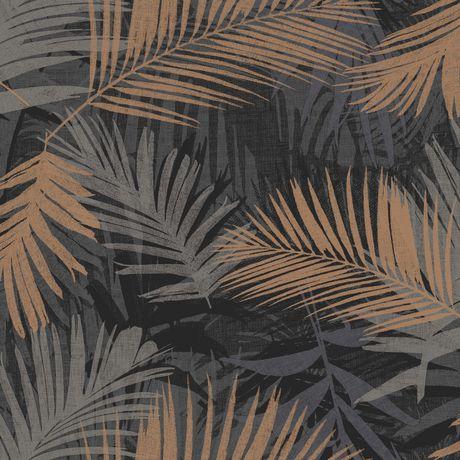 Graham Brown Glamour Jungle Noir Cuivre Papier Peint Amovible