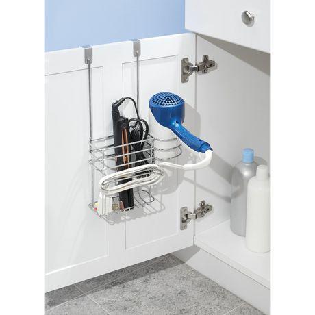 rangement pour accessoires cheveux accrocher par dessus la porte en chrome de mainstays. Black Bedroom Furniture Sets. Home Design Ideas