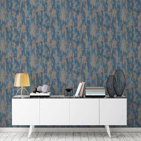 graham brown texture industrielle bleu cuivre papier peint amovible walmart canada. Black Bedroom Furniture Sets. Home Design Ideas