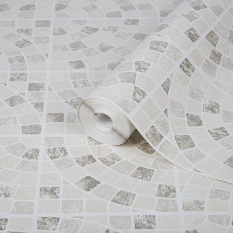 graham brown calcada beige blanc papier peint amovible walmart canada. Black Bedroom Furniture Sets. Home Design Ideas