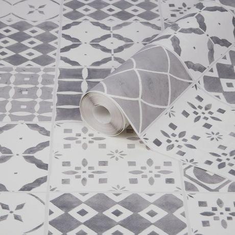 graham brown porches gris blanc papier peint amovible walmart canada. Black Bedroom Furniture Sets. Home Design Ideas