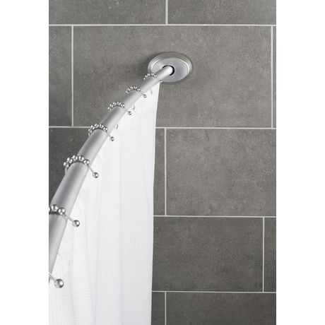 Mainstays No Rust Aluminum Curved Shower Rod